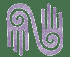 Perfect Pressure Massage and Reflexology Purple Hand Logo